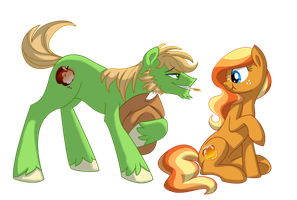 Applejack's parents headcanon: Howdy. by Lopoddity