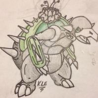 Cactus Tortoise Draft Third Form by LunaHydreigon