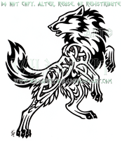Bold Nordic Wolf Design by WildSpiritWolf