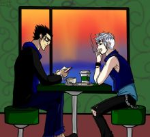After a long day... .:Punk!Blackice AU:. by NarutoUforever