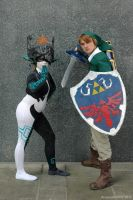 Imp form Midna and Link by ArcaneArchery