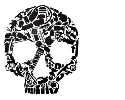 skull made of things by washwithcare