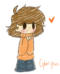 Small blushing sweater child by cipher-pines
