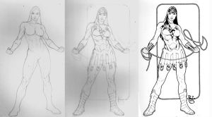 Wonder Woman step by step by PauloSiqueira