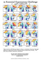 25 Essential Expressions Challenge: Rainbow Dash by steffy-beff