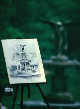 Painting in Central Park by Suppi-lu-liuma