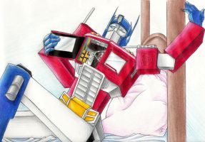 June: Optimus Prime by Mistress-D