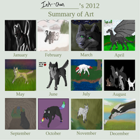 Ink--Chan's 2012 Art summary by Ink--Chan