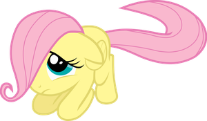 Filly Fluttershy feels humiliated by the-well-man