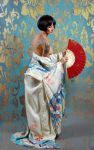 Girl with Red fan by Howie08