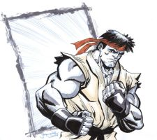 Ryu from Street Fighter sketch by thejeremydale