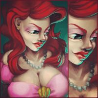 Ariel speedpaint by z0mbieparade