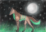 night wolf by Cirothe