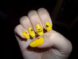 Pikachu Nails by nataliasp