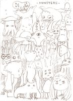 doodle/monsters by Arrrkal