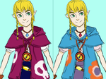 Linkle - Aryll costume designs by ThatPaleWhiteGirl
