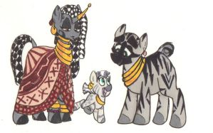 Zecora and family by Ghost-Peacock