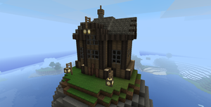 Steampunk Minecraft house by Markecgrad