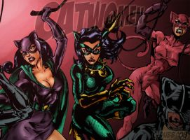 Catwomen color, WIP by CdubbArt