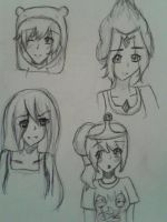 Adventure time sketches  :3 by KimikoEmiSama