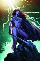 Red Sonja 67 cover color by wgpencil
