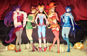 Sailor Senshi: Halloween Edition by Kawaiiipoop