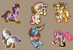 MLP stickers 3 by LordBoop