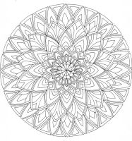 Mandala 1 WIP by Artwyrd