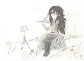 One of my very first anime-like drawings by shishiwikert