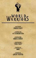 World Warriors Contents Page by Silvre
