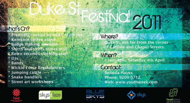 Duke St Festival Postcard by HappyG