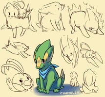 Chandler Doodles by OrcaCookie