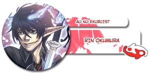 Rin Okumura button by Loreen