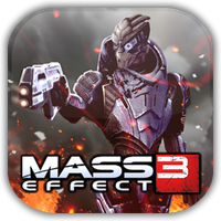 Mass Effect 3 Garrus Game Icon by Wolfangraul