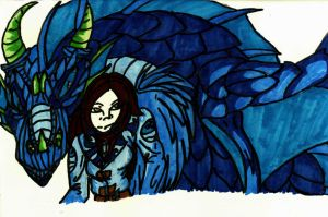 .:The Wolf Among Us:. Aquaria The Dragon of Water by GalacticMc