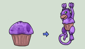 Muffin Monkey for D-D by chubby-choco