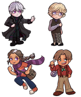 Infinite Spiral Chibis by novemberkris