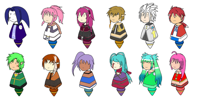 Elsword FCs in chibi mode by Drowsle101