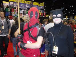 C2E2 4-15-12 Deadpool and Catwoman by Darth-Slayer
