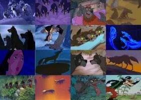 Disney Wolves and Coyotes in Movies by dramamasks22