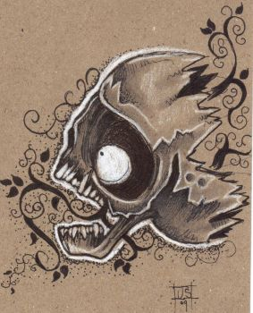 suicide skully by Jonny-Mistfit
