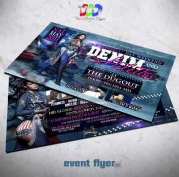 Denim and Stiletto affair Party Flyer by PhilVision