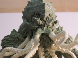 Cthulhu Statue face1 by Trapjaw