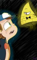 Dipper and Bill Cipher by Midnight-Asteriods