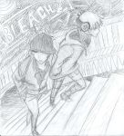 Bleach sketch- Ichigo and Renji~ by ani-chi-chan