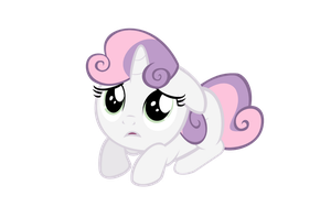 Scared- Sweetie Belle by IamthegreatLyra