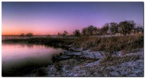 Nightfall At The River by kiebitz