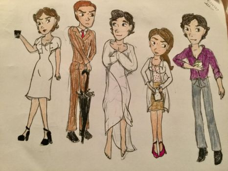 Sherlock Cast by Paleogirl47