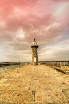Whitby Lighthouse- by JWalkerimages