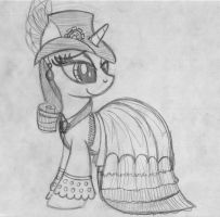 Steampunk Rarity by drawponies